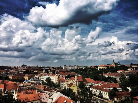 Rooftops of #Prague  #iphoneography #travelphotography #exploretocreate #vsco #vscoczech #igerscz #iglife #clouds