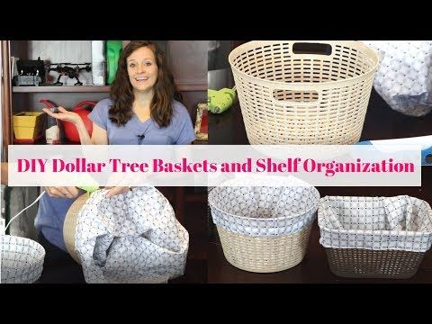 Diy Dollar Tree Baskets And Shelf Organization Dollar Tree Baskets Dollar Tree Diy Dollar Tree Diy Organization