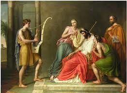Afbeeldingsresultaat voor david playing harp at sauls bed