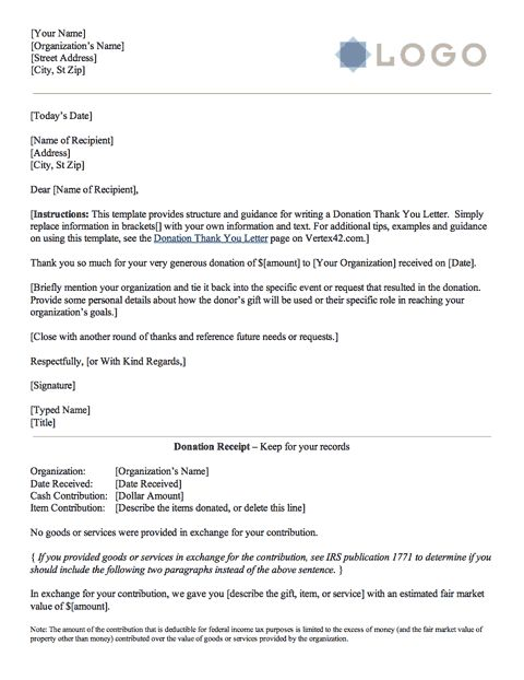Thank You Letter Scholarship Donation Template Letters  Home