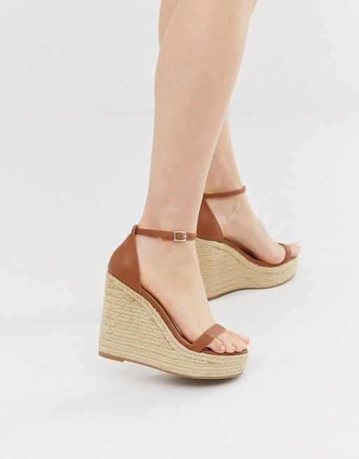 tan leather espadrille wedge sandals