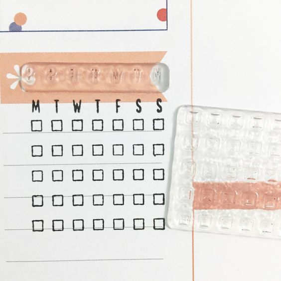 Calendar Stamp Bullet Journal : Bullet journal ideas that are borderline genius