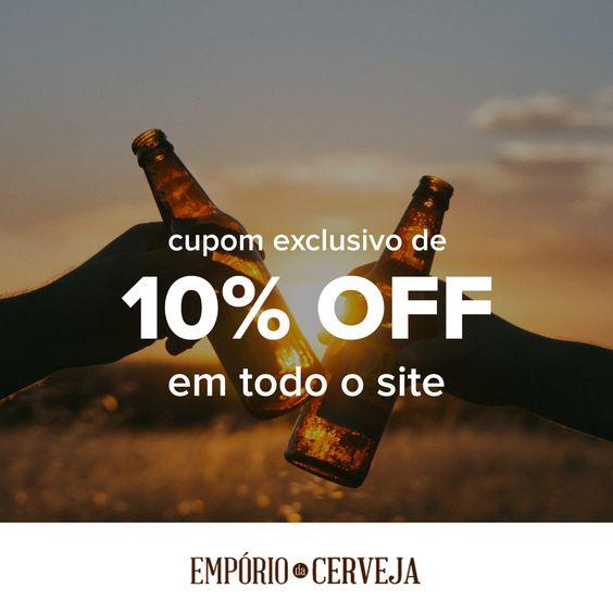 Cupom de 10% OFF em todo o site!!