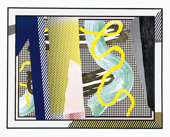 ROY LICHTENSTEIN - REFLECTIONS ON BRUSHSTROKES - KUNZT.GALLERY http://www.widewalls.ch/artwork/roy-lichtenstein/reflections-on-brushstrokes/ #Print