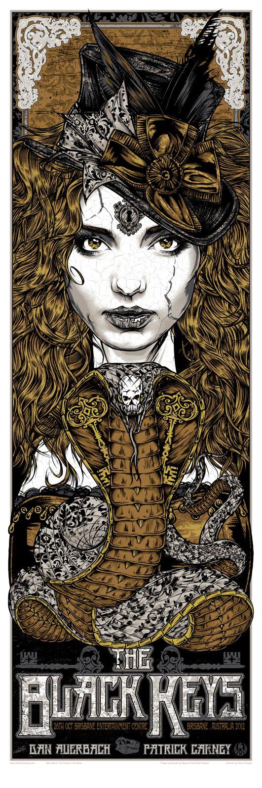 INSIDE THE ROCK POSTER FRAME BLOG: Rhys Cooper The Black Keys Variant Posters On Sale NOW