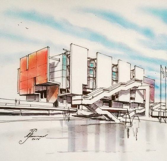 archi sketch #iran architecture student sketch # rendering