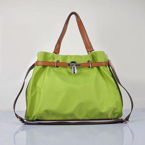 Hermes 2012 impermeabile spalla in tessuto Borsa Verde borse italia   hermes borse