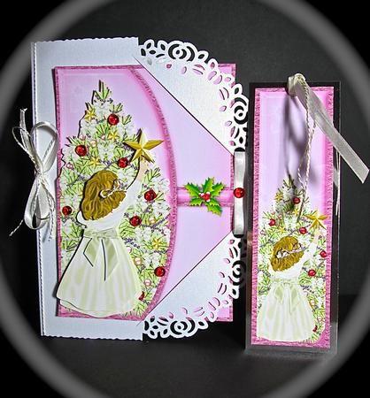 A Little Bit Pink Christmas Envelope Card Mini Kit