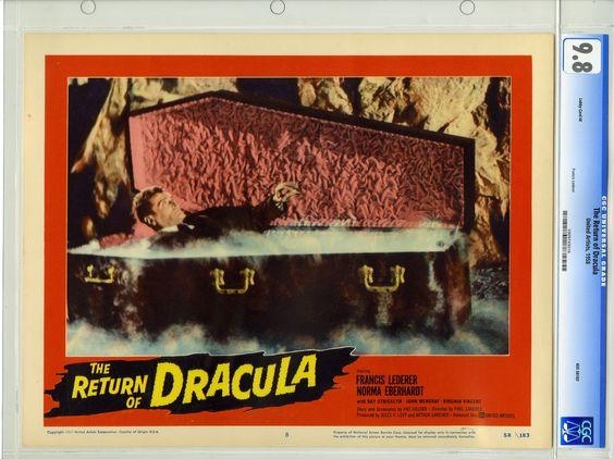 RETURN OF DRACULA (1958) CGC LOBBY CARD #8 / NM/MT 9.8 FRANCIS LEDERER | eBay