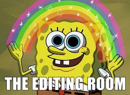 The Editing Room - Where the magic happens #pulsecda #humor #videographymeme #videography #videographer #videoproduction #meme #funny #lol #video #weddingvideography #editing #spongebob #imagination #fx #specialeffects