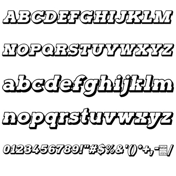 Typoster Outline Italic Font