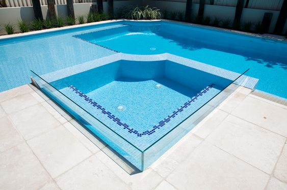 This beautiful swimming pool combines a large shallow for Swimming pool area