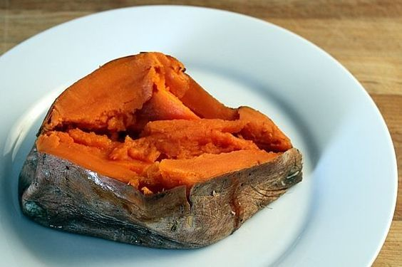 the perfect baked sweet potato