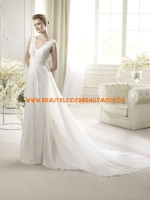 A-linie Preiswerte Schlichte Hochzeitskleider aus Chiffon