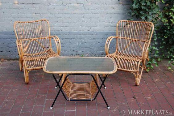 Marktplaats nl  u0026gt; twee retro rotan rohe noordwolde stoelen fauteuils   Huis en Inrichting