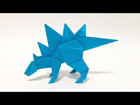 How To Make an Easy Origami Dinosaur - origami triceratops - YouTube | 360x480
