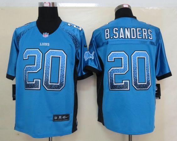 ... 2013 New Nike NFL Detroit Lions 20 Barry Sanders Drift Fashion Blue Men  Elite Jersey 22.99 ... a84f1edcd