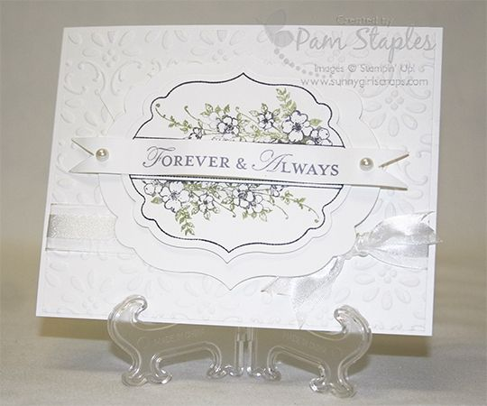 stampin up wedding cards | Wedding Card - SunnyGirlScraps, Pam Staples - Stampin' Up ...