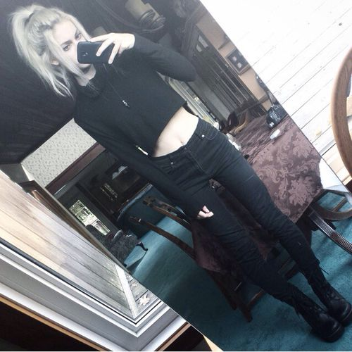 Fashion mirror, #hipster skinny - soft grunge #dark - #selfie