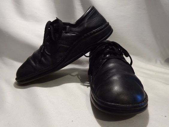 FINN COMFORT Vaasa Size 10M US EU 41  Black Laceup Oxfords German Made Support #FinnComfort #WorkSafety