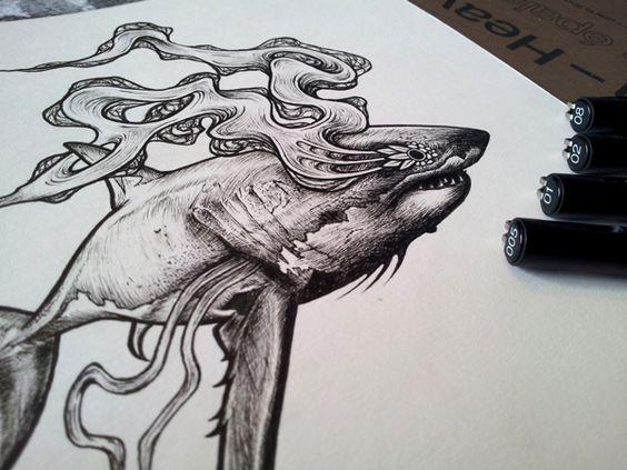 Bestial Spirits by Mat Miller, via Behance