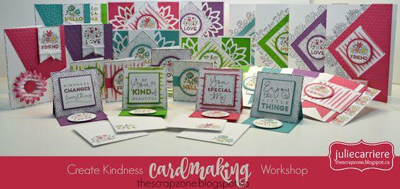 The Scrap Zone: Create Kindness - Cardmaking Workshop