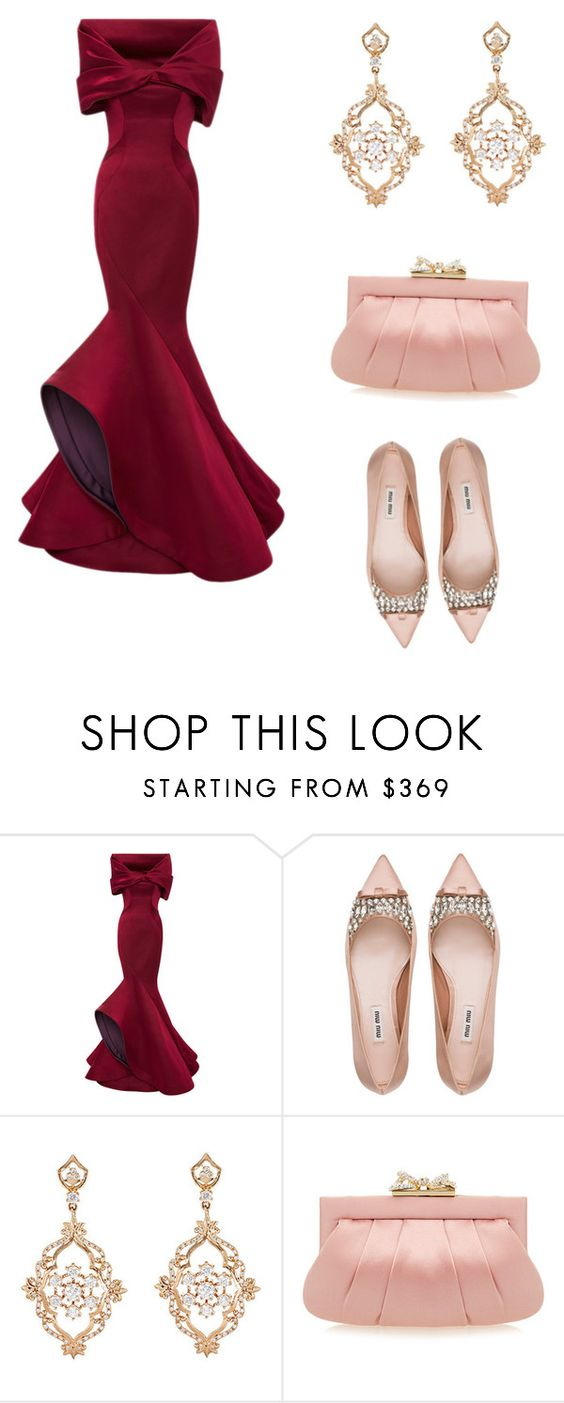 """Set"" by michaelamc ❤ liked on Polyvore featuring Zac Posen, Miu Miu, Sara Weinstock and Wilbur & Gussie"