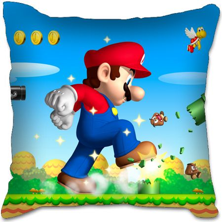 Nintendo Super Mario Bros Birthday Party Toy Sofa Plush Car Seat Chair Cushion