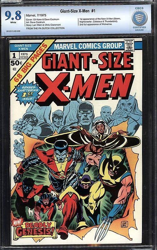 Giant Size X Men 1 Cbcs 9 8 Not Cgc 1st App Of New X Men 2nd Full Wolverine X Men Xmen Comics Comic Books