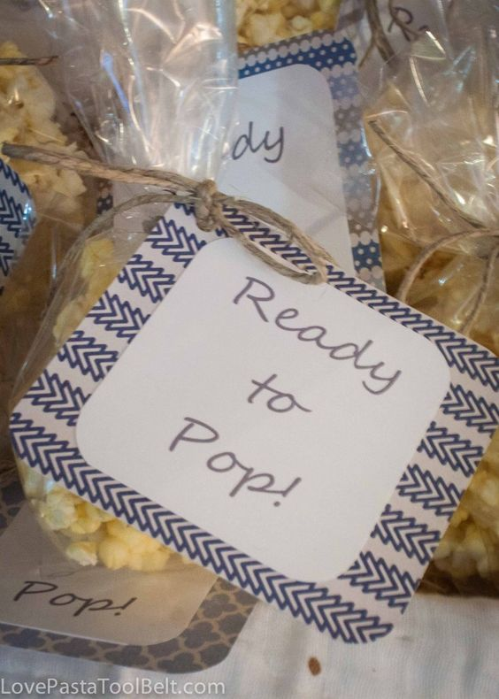 ready to pop baby shower favors with free printable parties