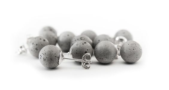 whaaaat! concrete earrings...so cool