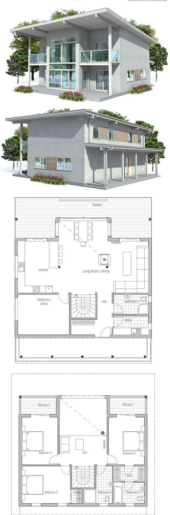 Small house plan with small building area small home for Small modern house design with floor plan