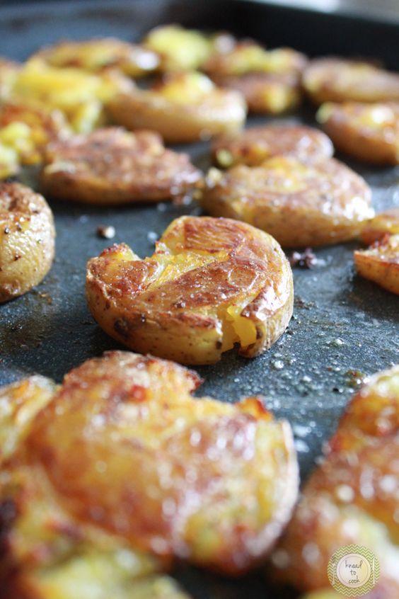 Black truffle smashed potatoes.