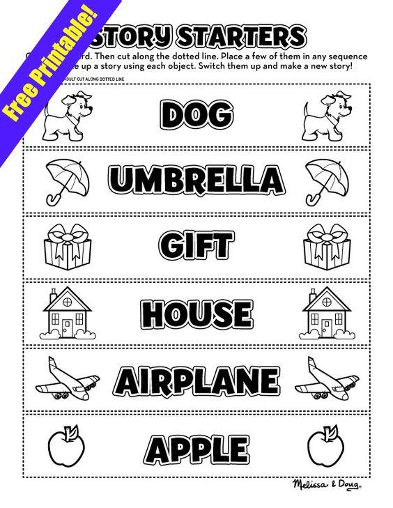 Teaching storytelling skills using Story Starter cards {printable ...