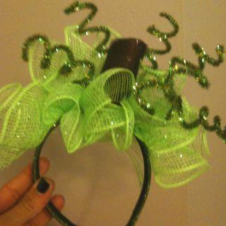 Headpiece for Olive's pumpkin costume!  Halloween 2011