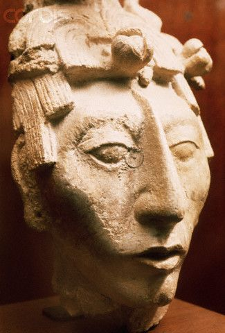 Mayan Sculpture of a Young Woman's Head | pre-Hispanic art ... Indigenous Aztec Women