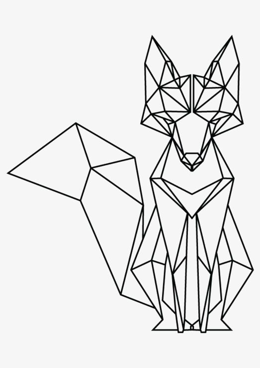 Fox Fox Clipart Geometry Fox Creative Fox Png Transparent Clipart Image And Psd File For Free Download Geometric Fox Geometric Drawing Geometric Animals