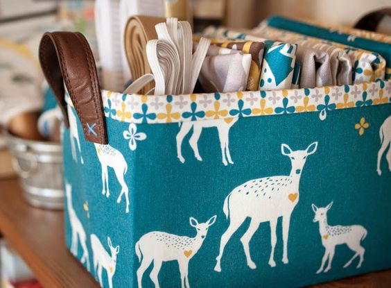 Sturdy Fabric Basket Tutorial | lillyella: