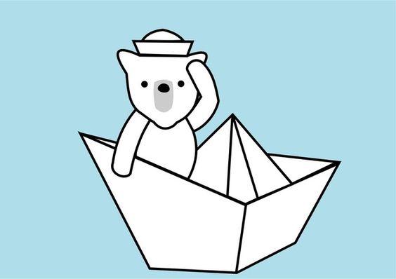 Poster Ahoi kleiner Bär