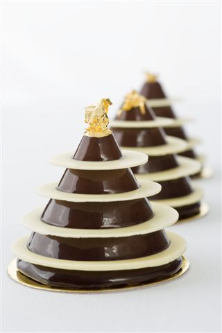 Chocolate Petit Gateau l Cake recipe included. The white rings are white…