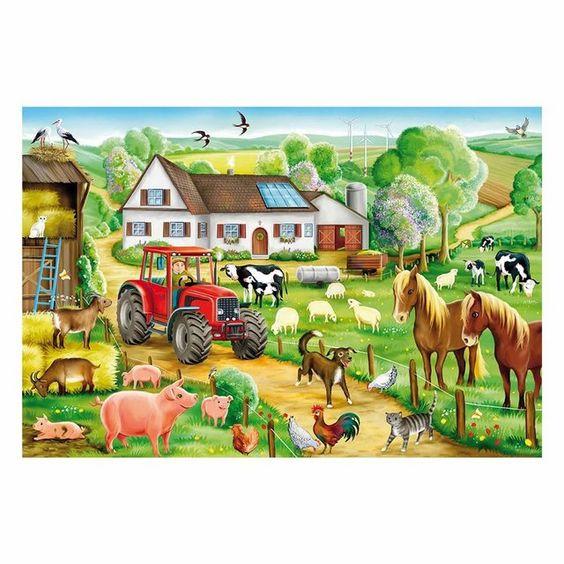 Puzzle »Fröhlicher Bauernhof 100 Teile«