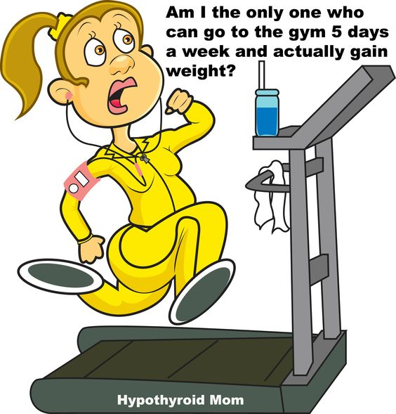 Am I the only one that can go to the gym 5 days a week and actually gain weight? HypothyroidMom.com #weightloss: