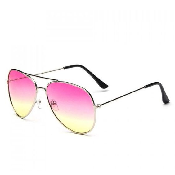 Chic Ombre Candy Color Alloy Frame Design Sunglasses For Women (€2,63) ❤ liked on Polyvore featuring accessories, eyewear, sunglasses, ombre sunglasses and ombre glasses
