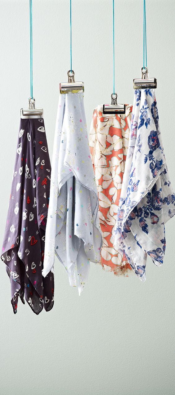Lightweight woven scarves for Spring and Summer. An easy way to update your wardrobe. www.oliverbonas.com