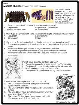 Vietnam War Worksheets Kidz Activities Great Vietnam War