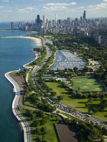 Lake Shore Drive, Lake Michigan, Chicago,: