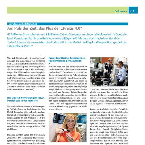 """Am Puls der Zeit: das Plus der """"Praxis 4.0"""" 40 Millionen Smartphones und 8 Millionen Tablet-Computer verbinden die Menschen in Deutschland. Vernetzung ist für praktisch jeden eine alltägliche Erfahrung, doch nach dem Stand der Technik könnte sie am meisten den Fortschritt in der Medizin beflügeln.   Lesen Sie mehr unter: http://ow.ly/UBB8a (gb/rf) #zwr #zahnarztpraxis #tyscorpulse #medizintechnik #zahnmedizin #dental #dürrdental #kompressor #saugmaschine"""
