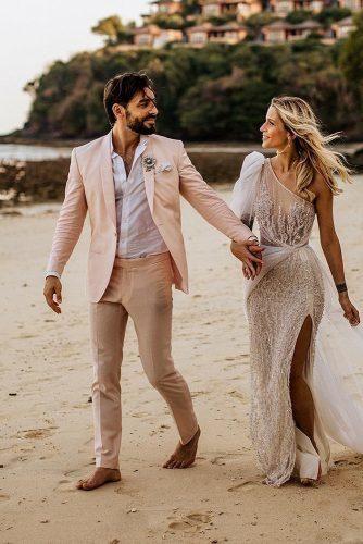 Mens Wedding Attire For Beach Celebration ★ mens wedding attire with jacket t shirt for beach chrisandruth