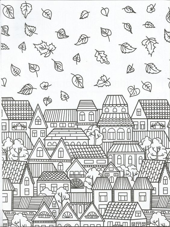 Coloring Page House For Adults 8347328975349587234 Simplepainting Tk Simple Painting Malvorlagen Kostenlose Ausmalbilder Herbst Ausmalvorlagen