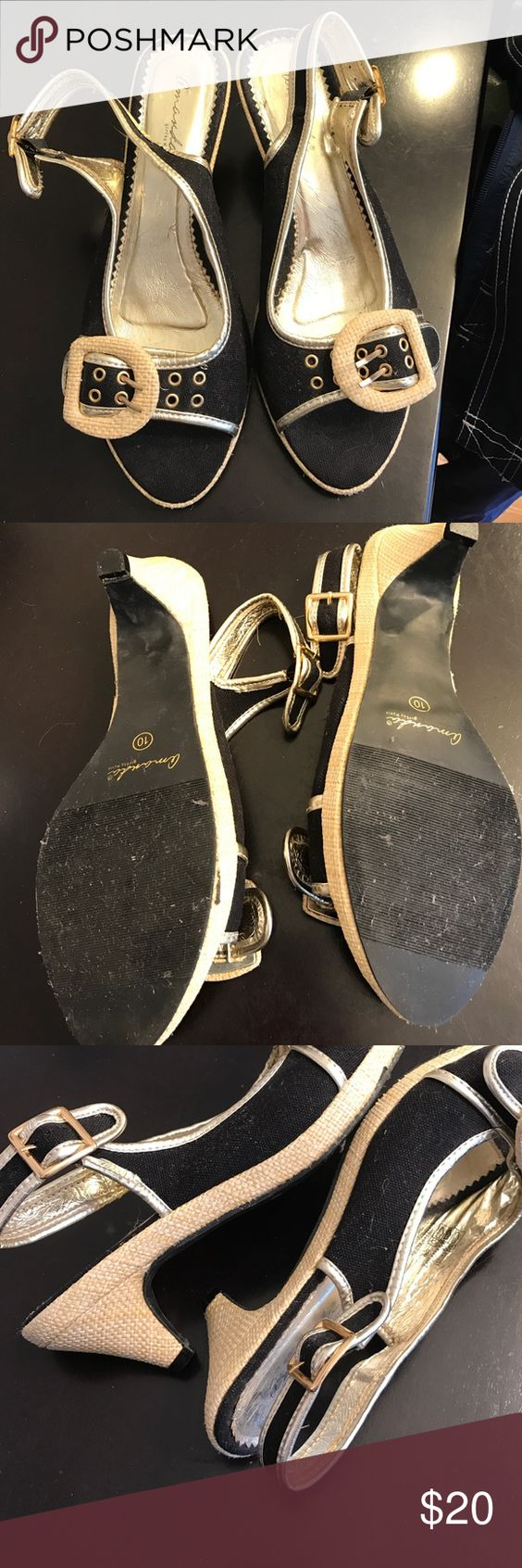 Black sandals myer - Amanda Girl By Myers Kitten Heels Size 10 Black Amanda Girl By Myers
